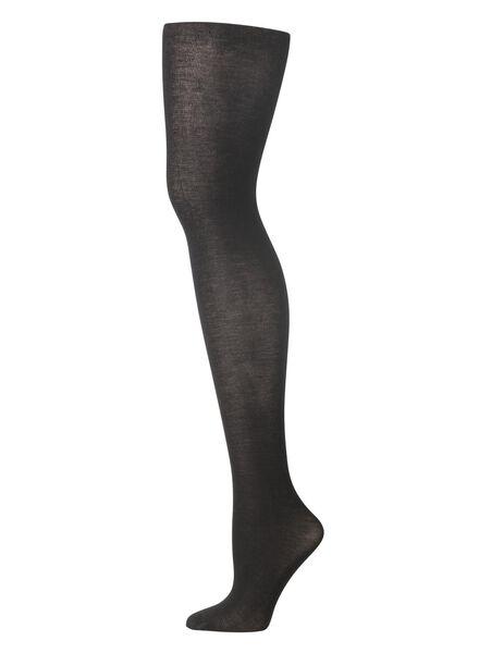 maillot bamboe 130 denier - zwart zwart zwart - 1000001203 - HEMA