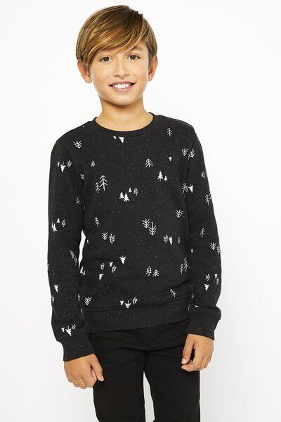 kindersweater bomen zwart - 1000021905 - HEMA