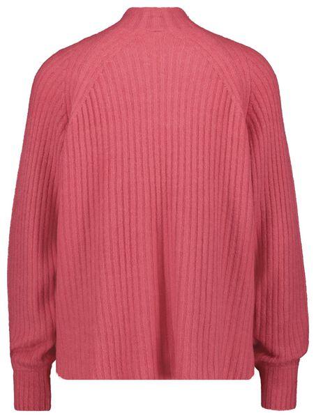 damestrui rib gebreid roze M - 36238387 - HEMA