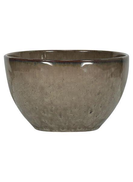 schaal - 14 cm - Porto - reactief glazuur - earth - 9602040 - HEMA