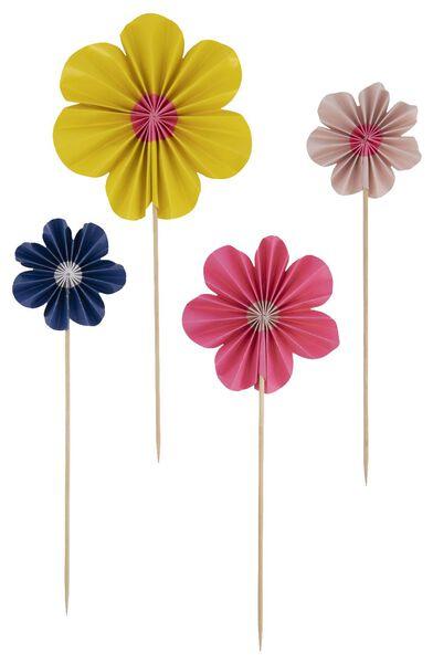 taartdecoratie bloemen - 4 stuks - 14200439 - HEMA