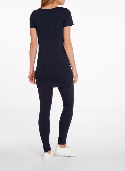 dames t-shirt - bioloigsch katoen donkerblauw L - 36328513 - HEMA