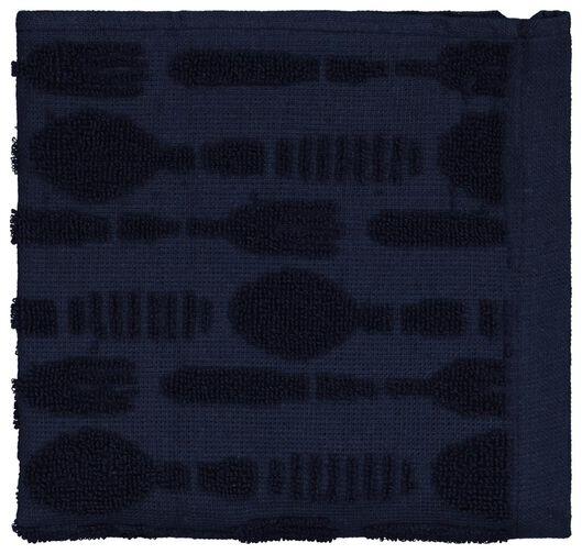 HEMA Keukendoek Bestek 50x50 Katoen Donkerblauw