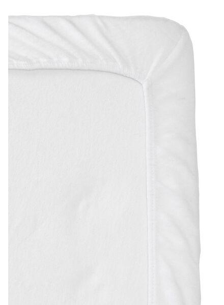 molton hoeslaken split-topper - 180 x 200/210 cm wit 180 x 200 - 5150019 - HEMA