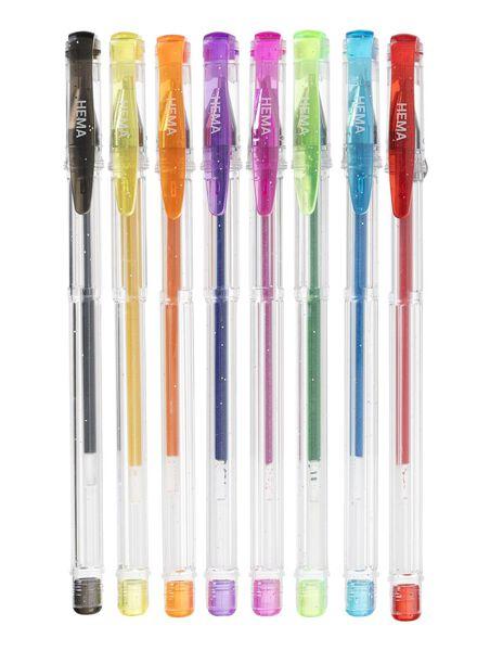 8-pak glitter gelpennen - 15980029 - HEMA