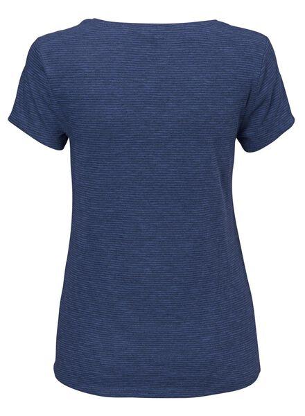 dames t-shirt blauw - 1000008667 - HEMA