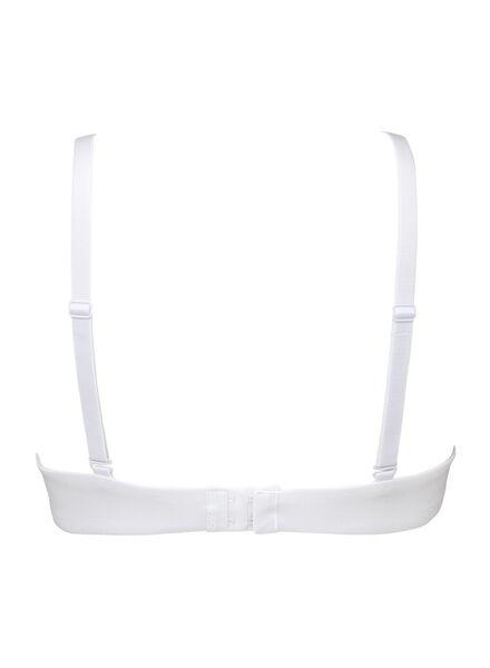 padded t- shirt bh zonder beugel katoen wit wit - 1000006603 - HEMA