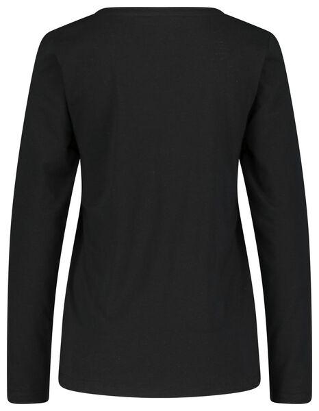 damespyjama zwart zwart - 1000021718 - HEMA