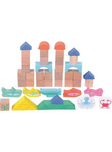 houten blokkenset oceaan - 15110253 - HEMA