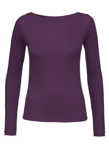 dames t-shirt wijnrood wijnrood - 1000008765 - HEMA