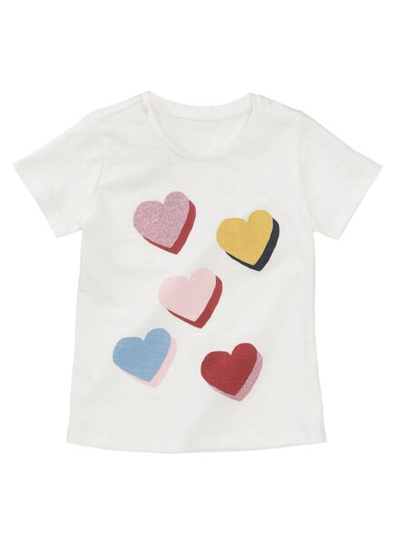 kinder t-shirt wit wit - 1000013499 - HEMA