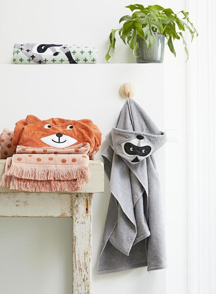 handdoek - velours - 50x100 - wasbeer - 5210118 - HEMA