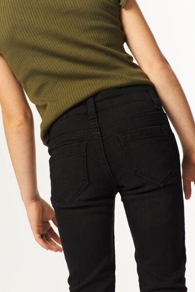 kinderjeans skinny fit zwart 98 - 30879749 - HEMA