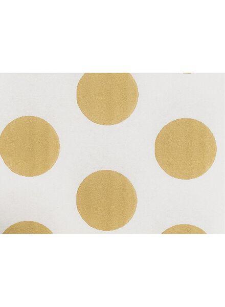 tafelkleed - 138 x 220 - papier - goud stippen - 14230071 - HEMA