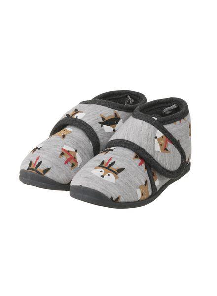 kindersloffen grijsmelange grijsmelange - 1000008957 - HEMA