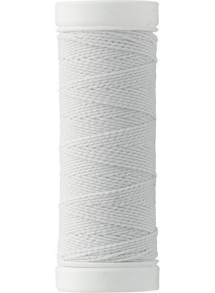 elastisch garen 20m wit - 1424001 - HEMA
