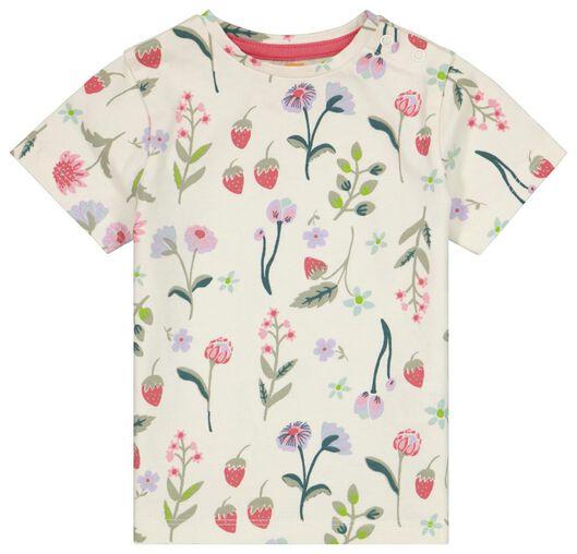 baby t-shirt bloemen gebroken wit - 1000023451 - HEMA