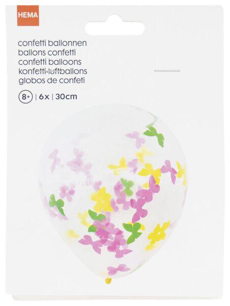 confetti ballonnen 30cm vlinder - 6 stuks - 14200417 - HEMA