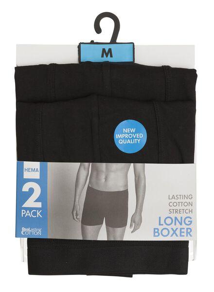 2-pak RLC long boxer zwart zwart - 1000001060 - HEMA