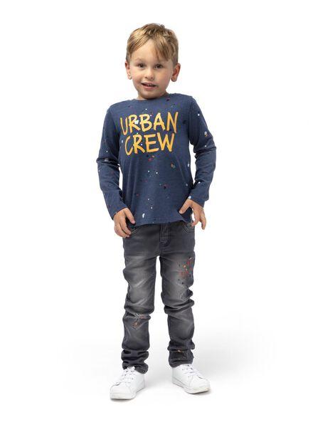 kinder t-shirt blauw blauw - 1000015005 - HEMA