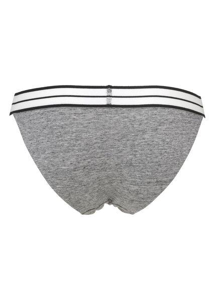 damesslip grijsmelange grijsmelange - 1000006585 - HEMA