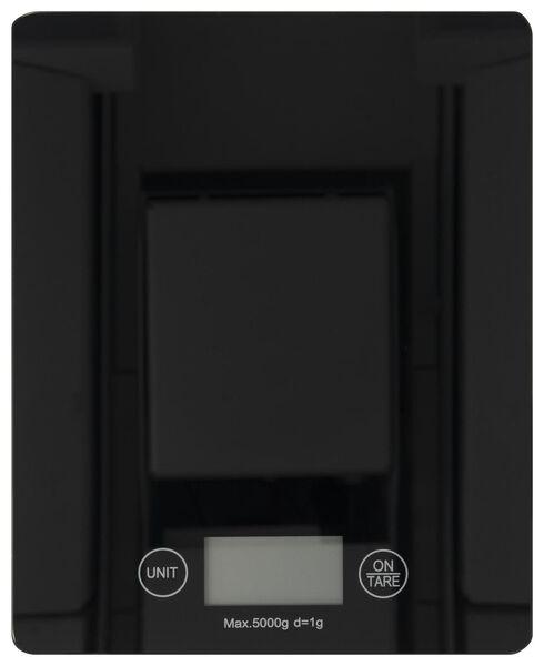 digitale keukenweegschaal - 16.5 x 20.5 - zwart - 80810018 - HEMA