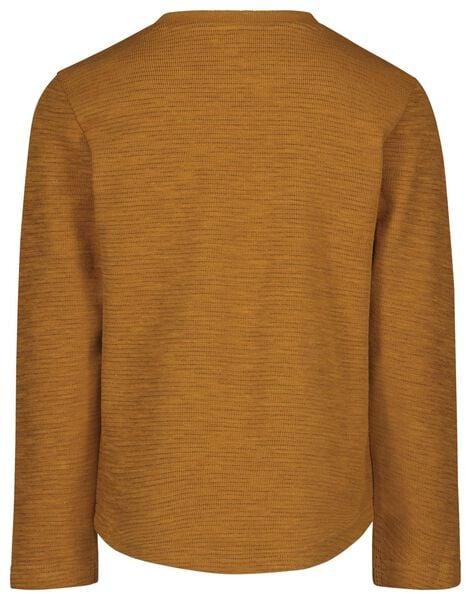kinder t-shirt structuur mosterdgeel mosterdgeel - 1000022214 - HEMA