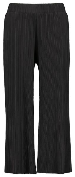 damesbroek plissé zwart zwart - 1000022096 - HEMA