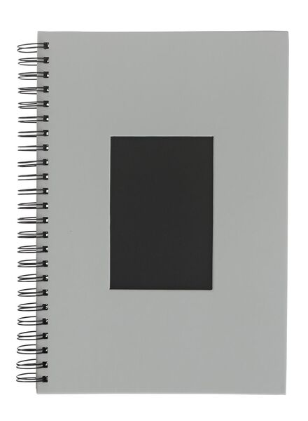 Fotoalbum met venster 31.5x21.5 grijs