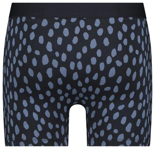 herenboxer lang - katoen/stretch donkerblauw donkerblauw - 1000022818 - HEMA