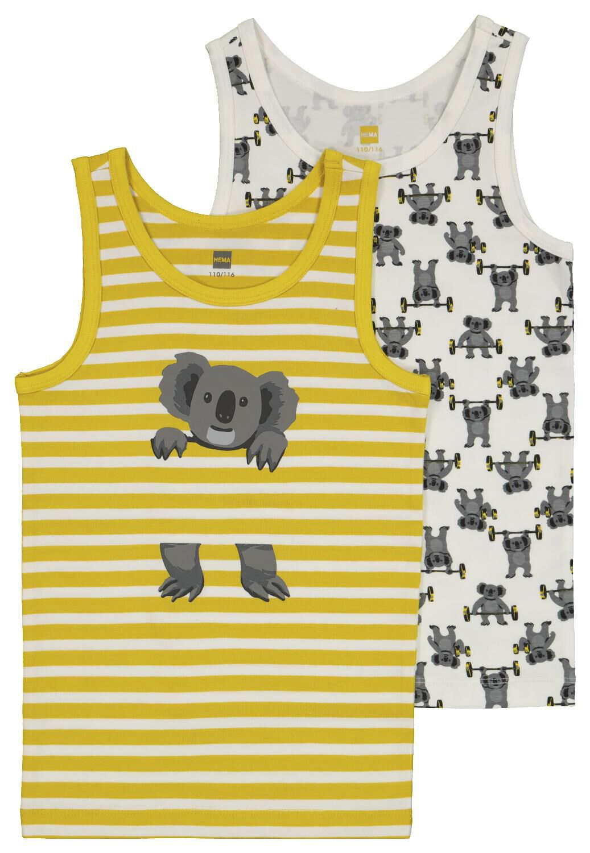 HEMA Kinderhemden Met Bamboe Koala - 2 Stuks Geel (geel)