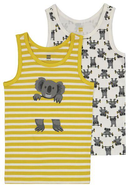 kinderhemden met bamboe koala - 2 stuks geel 122/128 - 19243504 - HEMA