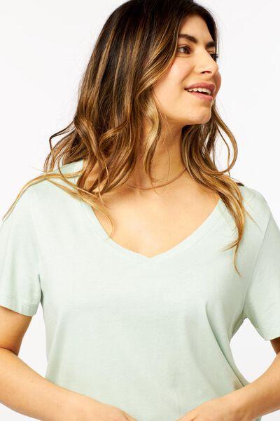dames t-shirt lichtgroen lichtgroen - 1000023953 - HEMA