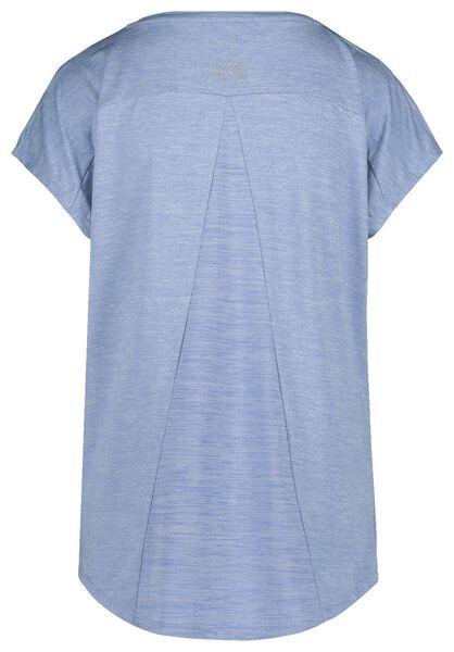 dames sportshirt loose fit lichtblauw lichtblauw - 1000019584 - HEMA