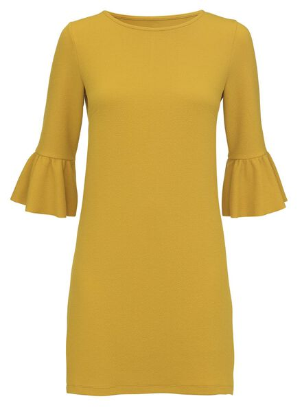 damesjurk geel geel - 1000003127 - HEMA