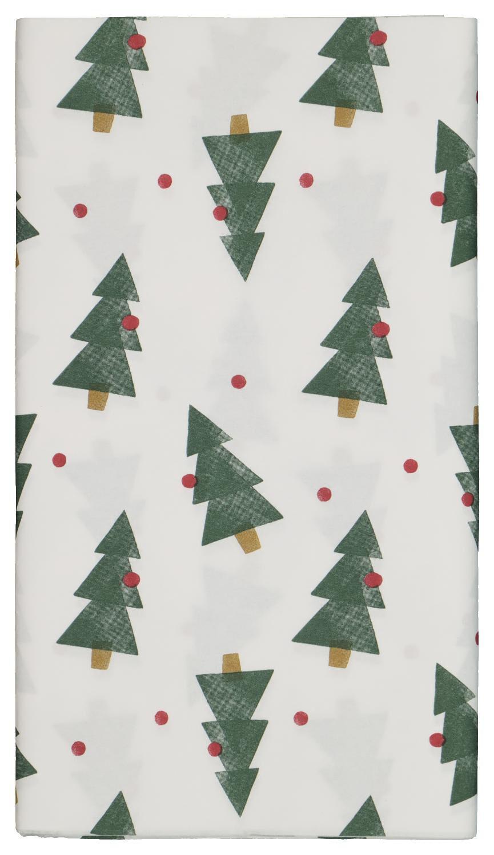 HEMA Tafelkleed Papier 138x220 Wit Met Dennenbomen
