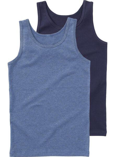 2-pak kinderhemden donkerblauw donkerblauw - 1000001433 - HEMA