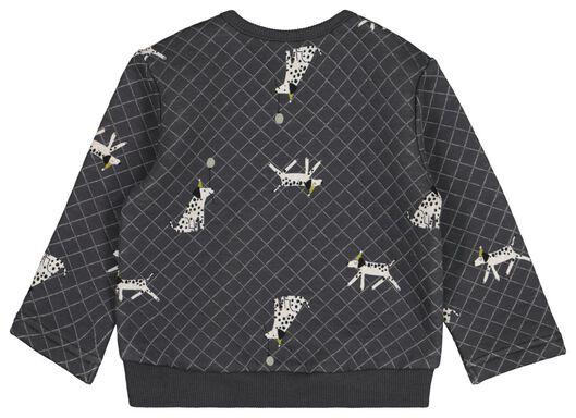 baby sweater hond donkergrijs donkergrijs - 1000021551 - HEMA