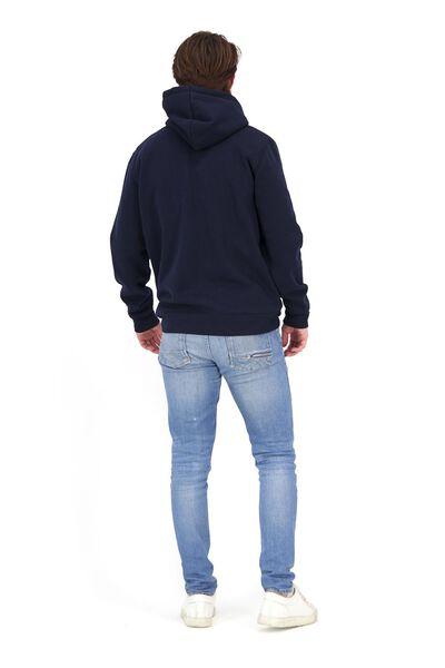 heren capuchonsweater donkerblauw XXL - 34250741 - HEMA