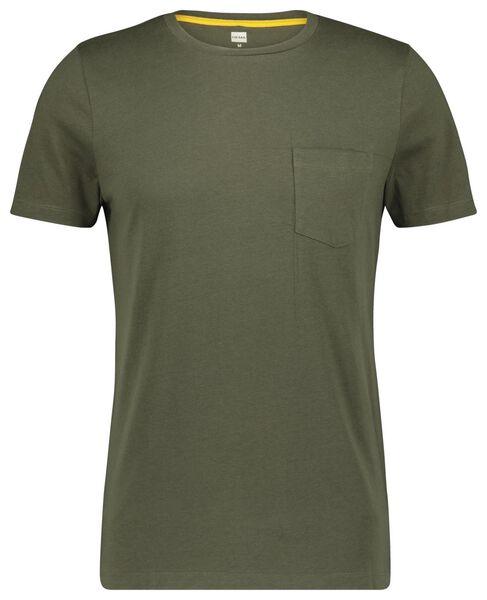 heren t-shirt lichtgroen L - 34297513 - HEMA