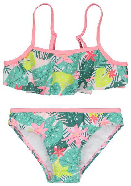 kinder bikini bloemen multi 134/140 - 22240709 - HEMA
