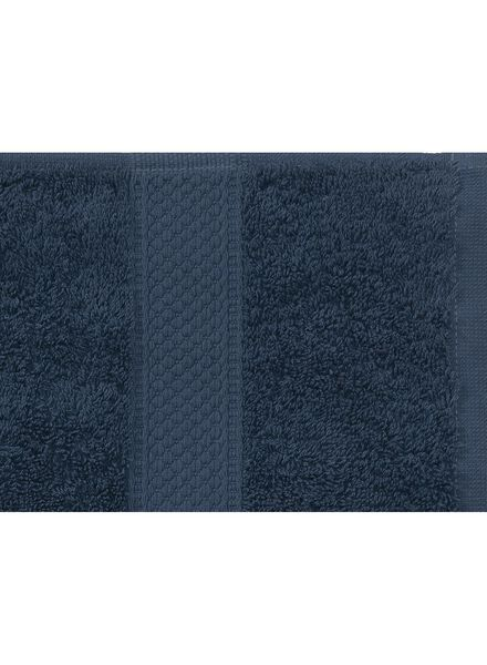 handdoek - 70 x 140 cm - zware kwaliteit - denim uni denim handdoek 70 x 140 - 5240182 - HEMA