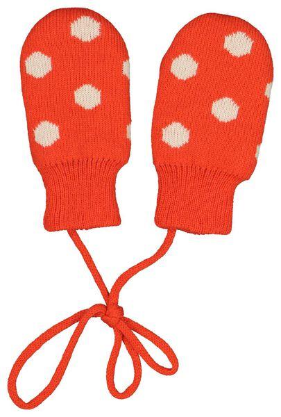babymuts met wantjes oranje oranje - 1000020308 - HEMA