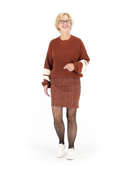 damestrui gebreid bruin bruin - 1000014764 - HEMA