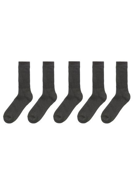 5-pak sportsokken zwart zwart - 1000002086 - HEMA