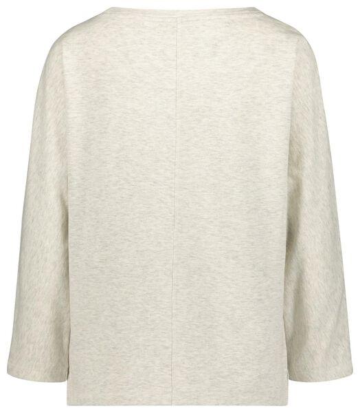 dames sweat t-shirt gebroken wit gebroken wit - 1000021480 - HEMA