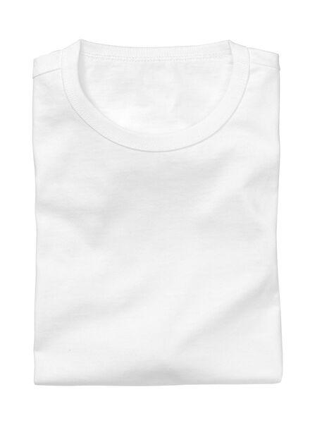 2-pak heren t-shirts regular-fit wit wit - 1000005963 - HEMA