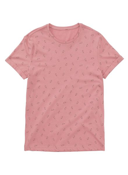 heren t-shirt roze roze - 1000012641 - HEMA