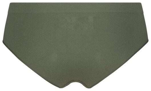 dameshipster rib naadloos groen groen - 1000021765 - HEMA