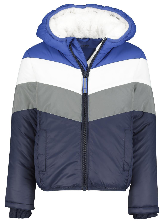 HEMA Kinderjas Met Capuchon Donkerblauw (donkerblauw)